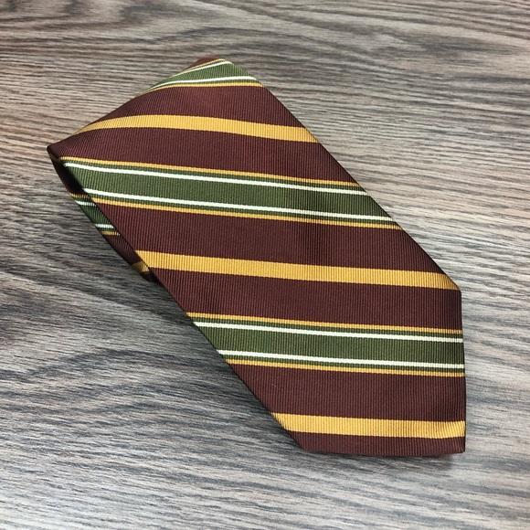 Robert Talbott Other - Robert Talbott Brown, Green & Gold Stripe Tie